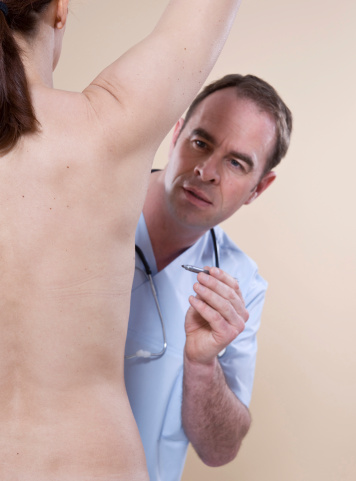 docotr marking patient for breast surgery