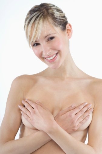 Lady Covering Breasts