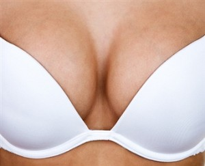 Firm breasts with bra